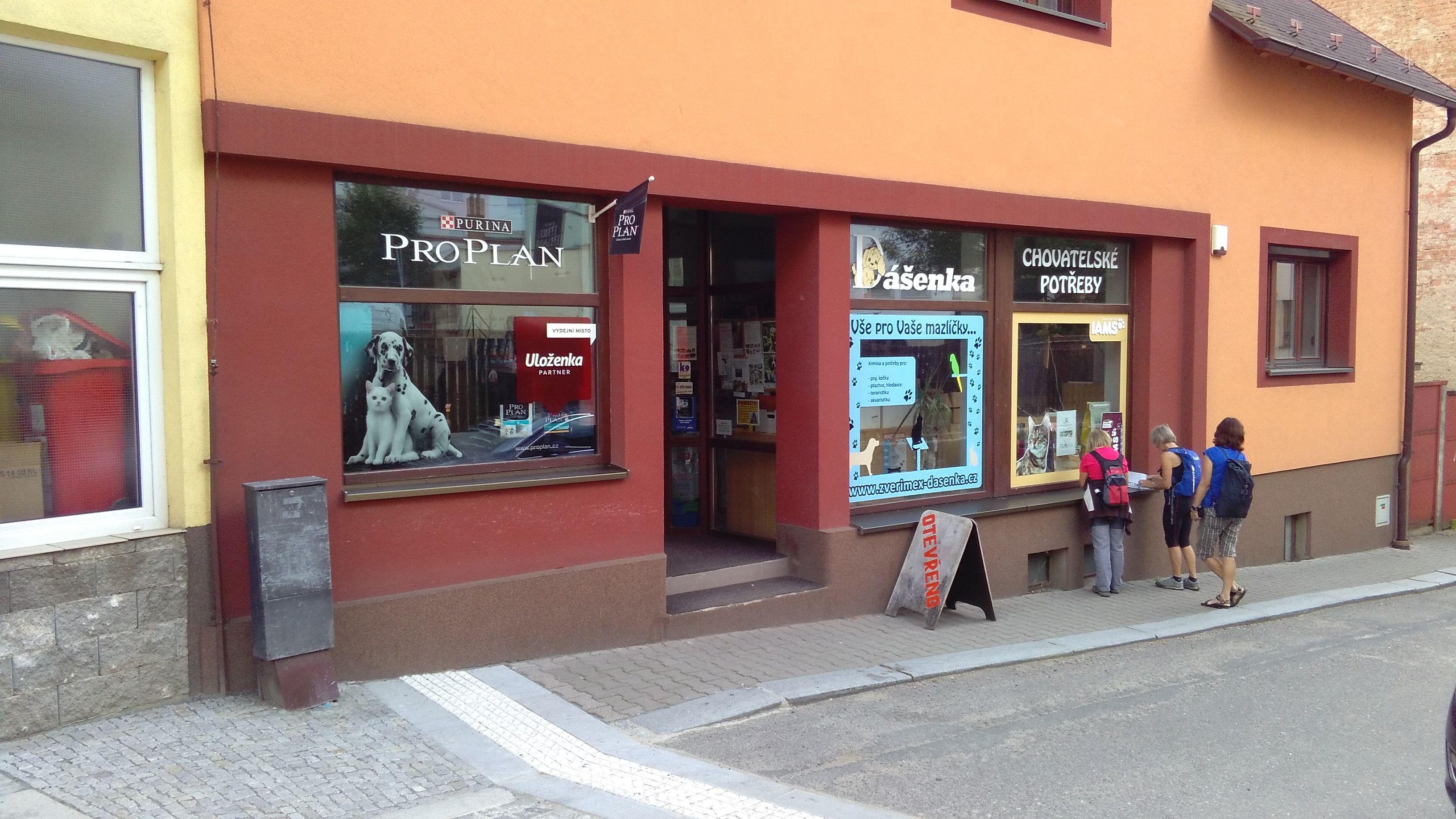 Pobočka Ústí nad Orlicí, Příkopy 126, (Dášenka chovatelské potřeby)