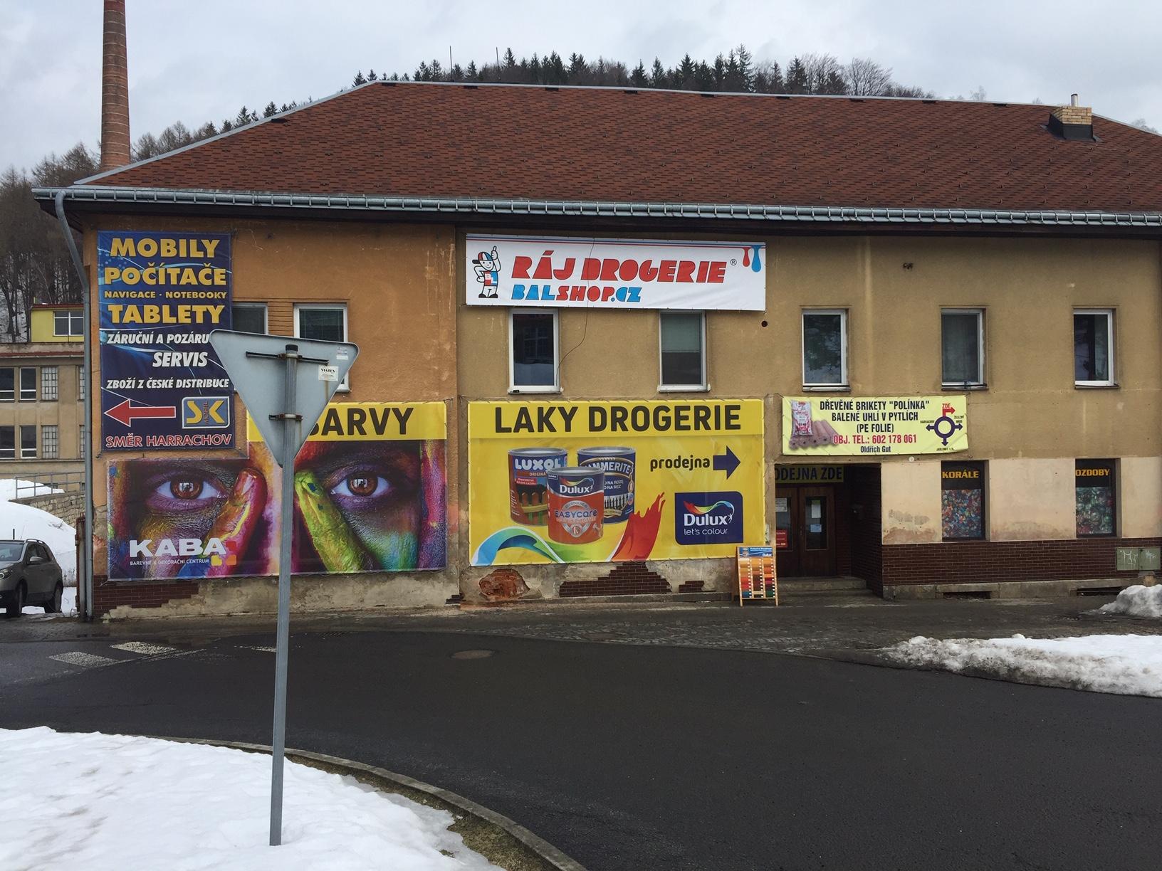 Pobočka Tanvald, Žákova 144 (Barvy, laky, drogerie – KABA centrum s.r.o.)