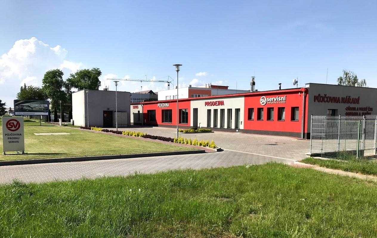 Pobočka Prostějov, Kojetínská 4665/9a (SV servisní s.r.o. – půjčovna a servis nářadí)
