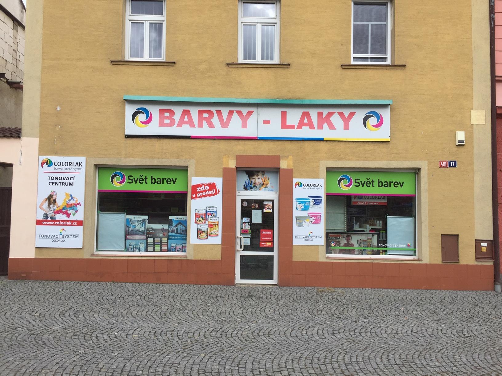 Pobočka Vlašim, Žižkovo nám. 401 (COLORLAK maloobchod s.r.o. – SVĚT BAREV)